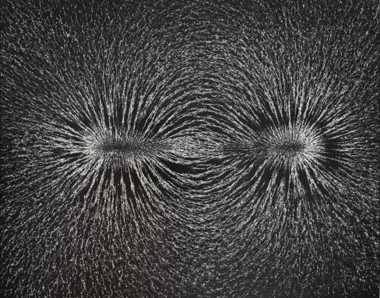 Berenice Abbott, Magnetic Field, 1982 Gelatin silver print, 18.5 x 23.25 David Winton Bell Gallery | Gift of Michael B. Targoff